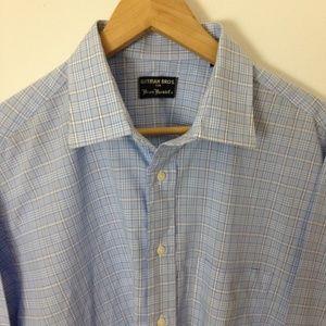 Gitman Bros Checked Cotton Button Size 17 Shirt